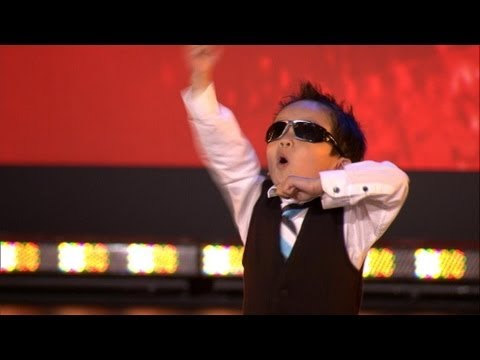 Vierjarige Tristan danst Gangnam style in Belgium's Got Talent