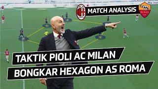 Taktik Bongkar Solid Hexagon   Analisis Ac Milan V As Roma
