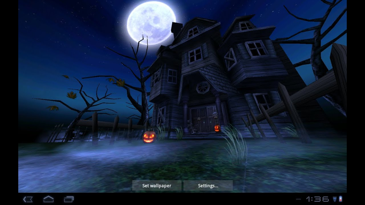 haunted house hd live wallpaper for android free
