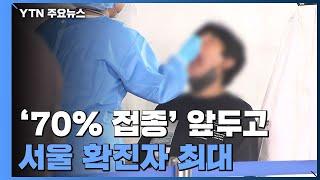 '70% 접종' 앞두고 서울 확진자 최대...어린이·임…