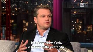 Matt Damon al David Letterman 31-07-2013 (sub ita) Part 1