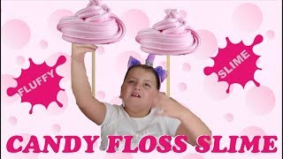 HOW TO MAKE SOFT FLUFFY CANDY FLOSS SLIME DIY STRETCHY ASMR SLIME