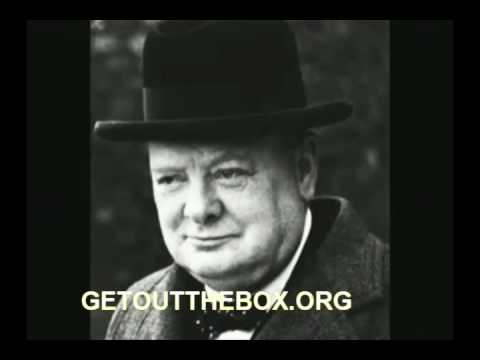 "Winston Churchill ""Never Give In"""