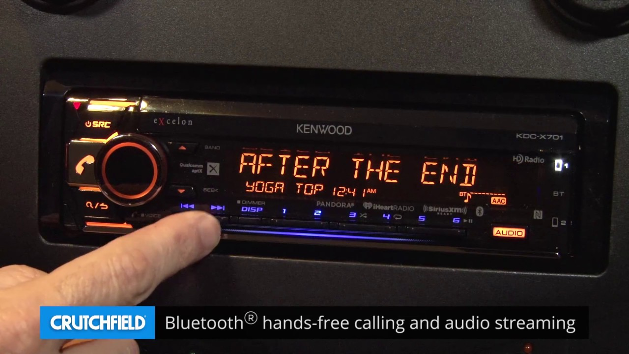 Kenwood Excelon Kdc X701 Display And Controls Demo Crutchfield Video Bt562u Wiring Diagram