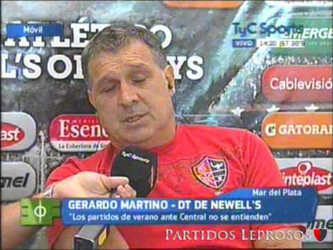 PartidosLeprosos | Entrevista a Gerardo Martino | Estudio Fútbol