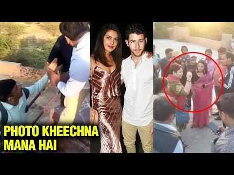 BIG FIGHT At Priyanka Chopra & Nick Jonas Wedding Venue Between Media , Police and Bodyguards