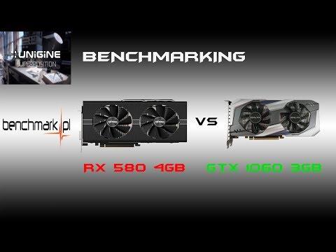 RX 580 4GB VS GTX 1060 3GB  - Super Position Benchmark Score - 1080P EXTREME PRESET