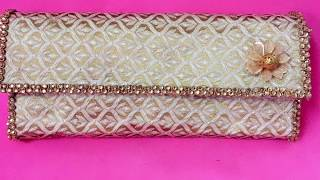 DIY Clutch, No sew clutch, Festive Clutch, Fabric Clutch
