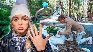 I LOST MY ENGAGEMENT RING IN THE SNOW! *PRANK*