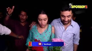 Shraddha Kapoor and Siddhanth Kapoor at Haseena Parkar Screening | SpotboyE