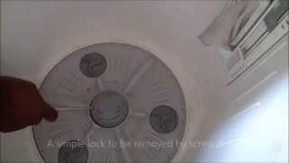 How Repair Top Loading Washing Machine Home Stop Drain Water Leakage Remove Block