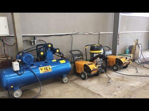 Lắp đặt chuyển giao trọn bộ cầu nâng máy rửa xe máy hơi nước nóng - Lai Châu