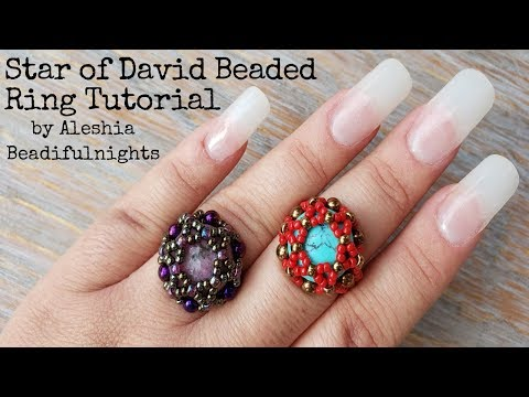 Star Of David Beaded Ring Tutorial