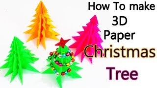 How to make 3D Paper Christmas Tree Tutorial | DIY 3D Paper Christmas Tree | Kids Christmas Project