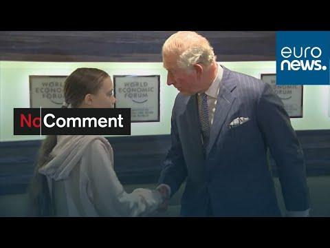 euronews (en français): A Davos, rencontre Greta Thunberg - prince Charles