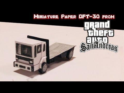 DIY Miniature Paper DFT-30 From GTA San Andreas