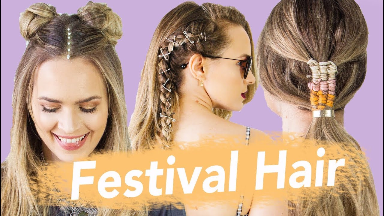 the best festival hairstyles for 2018 - kayleymelissa - youtube