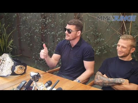 UFC 217 full media lunch interviews with Michael Bisping and T.J. Dillashaw