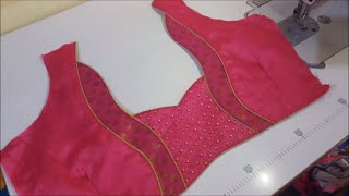 very easy and simple blouse back neck designs cutting and stitching