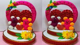 DIY showpiece making at home!! Love Gift ideas   DIY hand made craft and Room Decor ideas.  