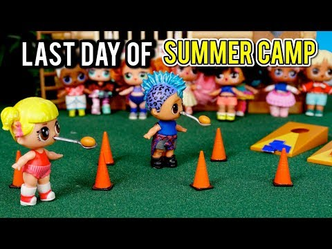 Barbie LOL Doll Last Day of Summer Camp - Baby Goldie & Punk Boi