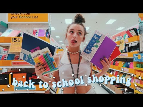 let's go back to school supplies shopping!