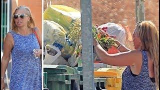 Las imágenes de Belén Esteban rebuscando en la basura que se hacen virales