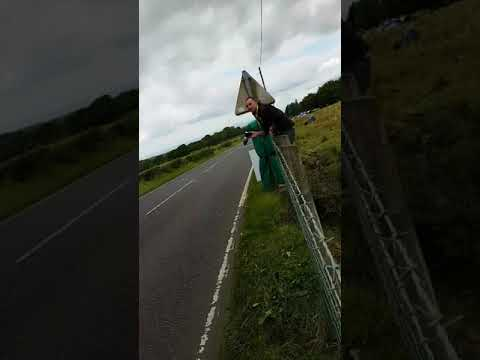 UGP scared shitless caught on wire