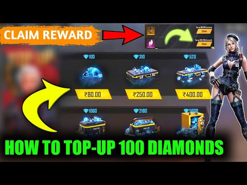 How To Top-Up 100 Diamonds In Garena Free Fire || Claim 100 Diamond Top-Up Reward In Free Fire