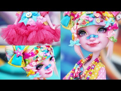 Decora Kei Girl 🌈 Special Collab w/ Babi Time | Custom EAH Doll Repaint | Mozekyto 8