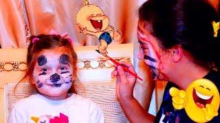 Bad Baby Вредные Детки страшно измазали лица друг друга красками  Видео для детей Прикольное видео