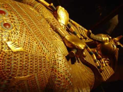 King Tut in Cairo Museum of Egyptian Antiquities