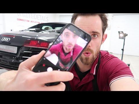 Audi R8 Spyder paint correction - filmed with Samsung S8 - VLOG 025