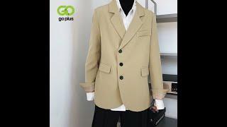 Goplus женская куртка зимняя одежда офисное дамское пальто корейский стиль повседневные черные