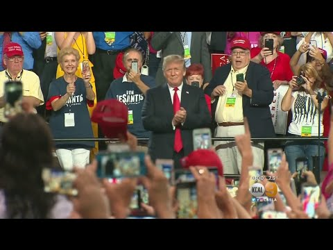 Trump Attacks 'Fake News' Media At FL Rally, Prompting Supporters To Shout Down Reporter