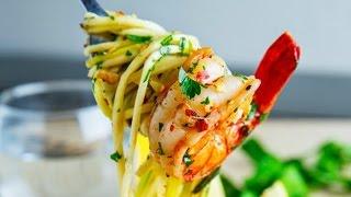 Paleo Diet Recipes - Lemon Shrimp with Zucchini Pasta Recipe