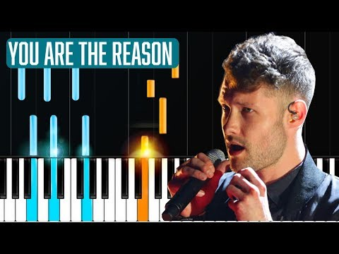 "Calum Scott - ""You Are The Reason"" Piano Tutorial - Chords - How To Play - Cover"