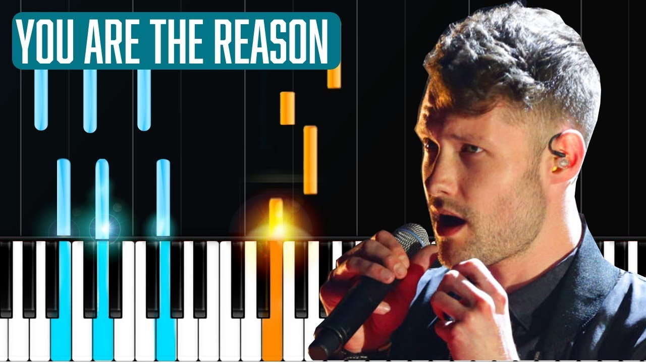 Calum Scott You Are The Reason Piano Tutorial Chords How To Play Cover Youtube