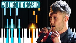 "Calum Scott - ""you Are The Reason"" Piano Tutorial - Chords - How To Pl"