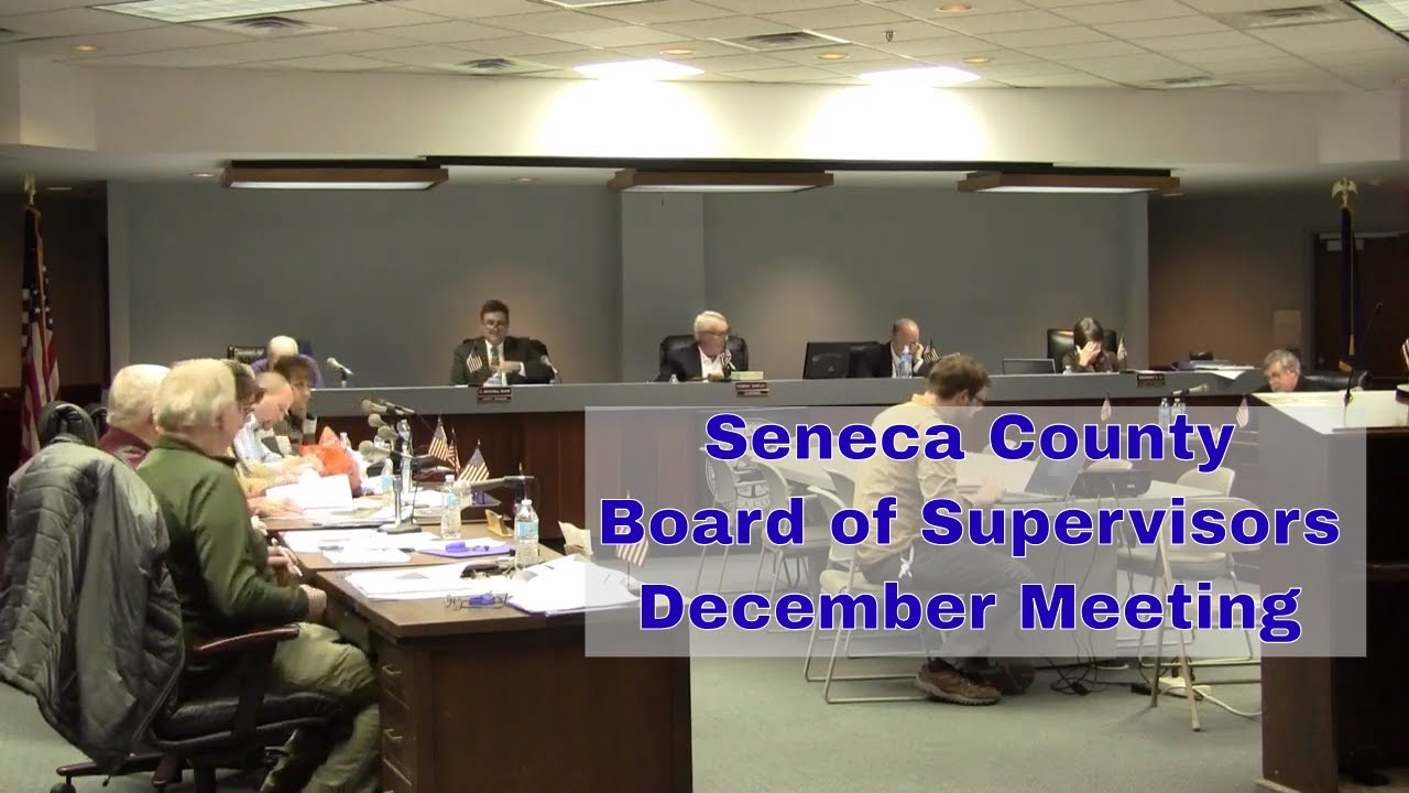 Board of Supervisors hold December meeting in Waterloo (video)