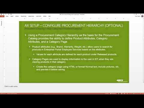 Utilizing Procurement Catalogs in AX2012 to Streamline Ordering Goods and Services
