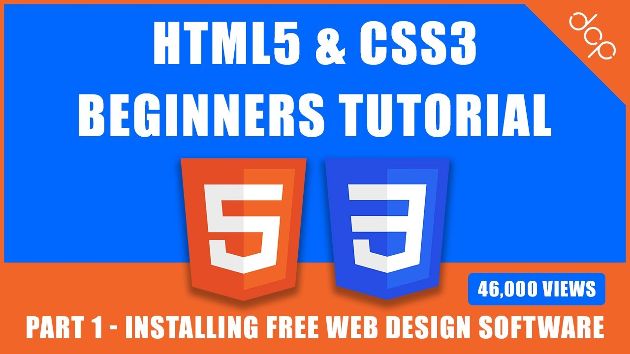 Html5 Css3 Beginners Tutorial Part 1 Installing Free Web Design Software Youtube