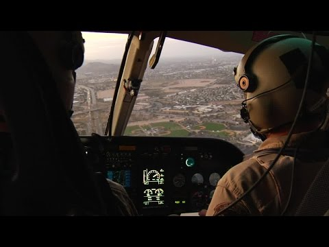 RAW VIDEO: Agents patrol the border from the sky