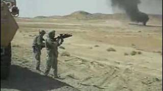 2 soldiers blow up a gas tanker with their grenade launchers!