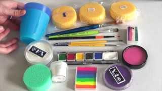 Repeat youtube video Produkte und Grundausstattung für Anfänger - Kinderschminken lernen TEIL 1