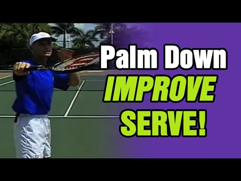 Tennis - Keep The Palm Down To Improve Your Serve    Tom Avery Tennis 239.592.5920