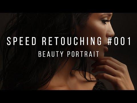 High-End Speed Retouching. Beauty Portrait.