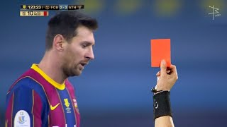 Lionel Messi - All Red Cards In Career