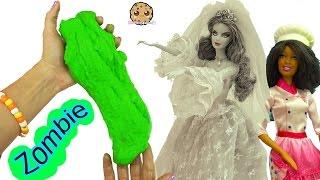 Zombie Bride Doll Dances & Eats Sugar Cookies - Chef Barbie Bakes Dance Party Zombies