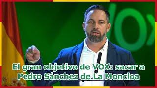 El gran objetivo de VOX: sacar a Pedro Sánchez de La Moncloa